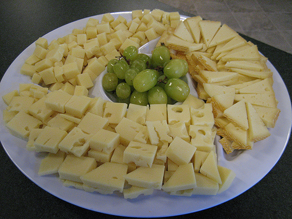 Cheese trays made fresh to order