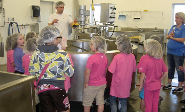 Experience a guided tour of our cheese production facility!